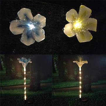 волоконно-оптический цветок украшения свет